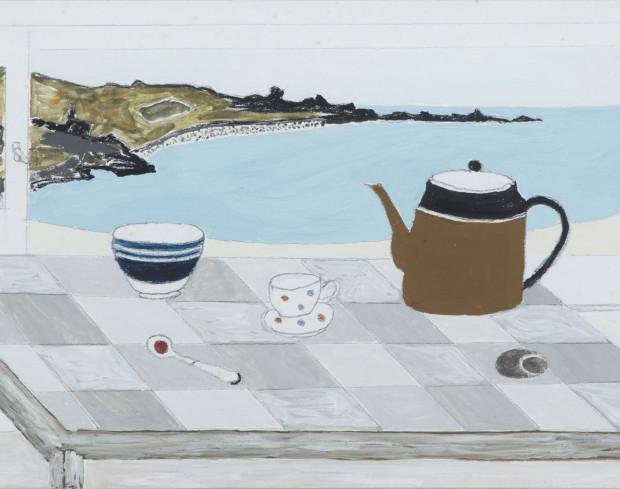 Rachel Nicholson Seascape with Table