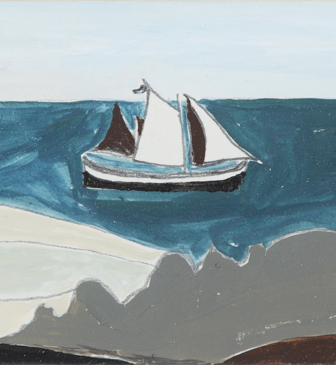 Rachel Nicholson: View with Sailing Boat