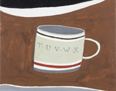 Rachel Nicholson: Mug with Letters, 1981