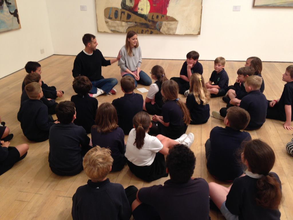 Newlyn School pupils working with artists Theo Carter-Weber and Liz Howell