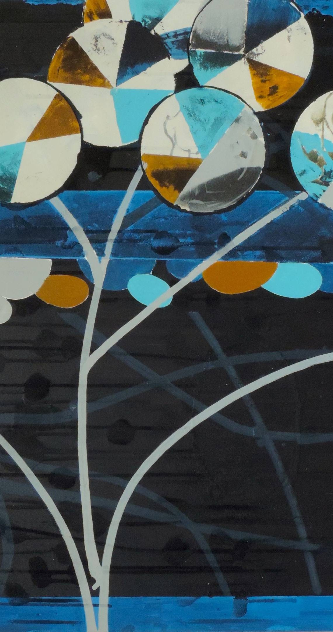 Mark Surridge, Way Finder Blue in The Picture Room at Newlyn Art Gallery