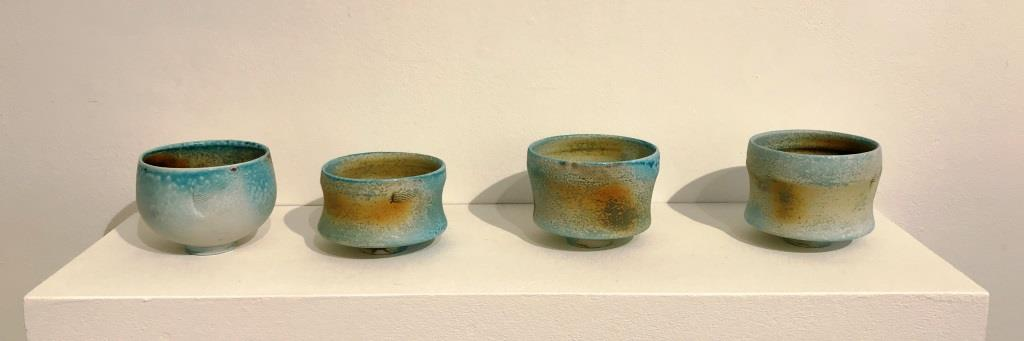 Ceramics by Jack Doherty in The Picture Room at Newlyn Art Gallery