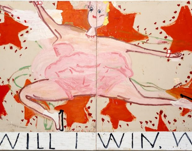 Rose Wylie exhibition at Newlyn Art Gallery and The Exchange in Penzzance