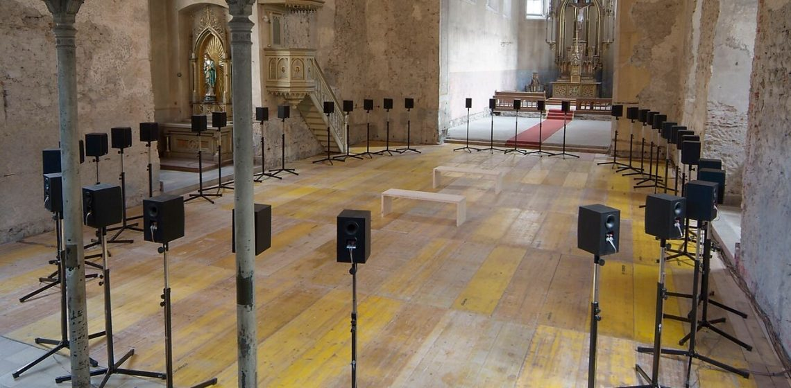 Forty Part Motet by Janet Cardiff, (2001) at Richomond Chapel in Penzance as part of Groundwork