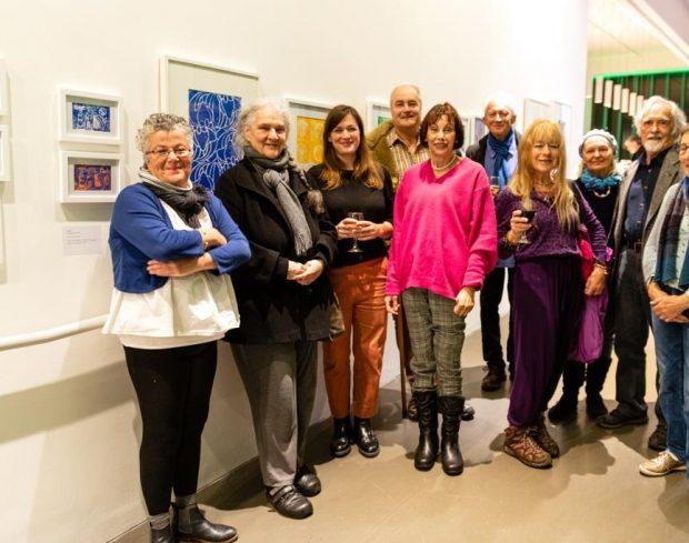 Tea, Cake & Art artists at The Exchange