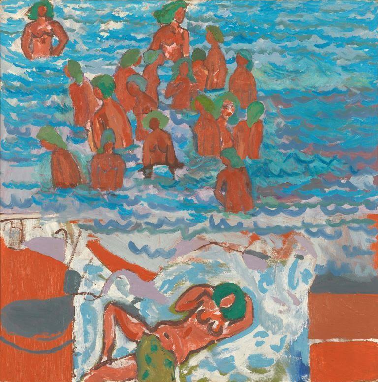 Stassinos Paraskos, Bathing, 1968. Arts Council Collection,